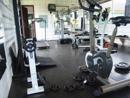 The fitness center and/or fitness facilities at Hotel Pousada O Recanto