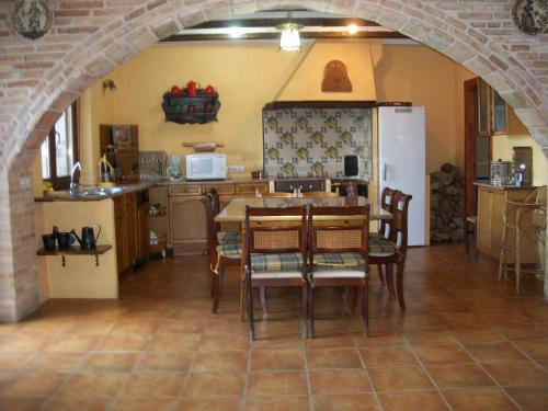 A restaurant or other place to eat at Casa Rural Aritzenea