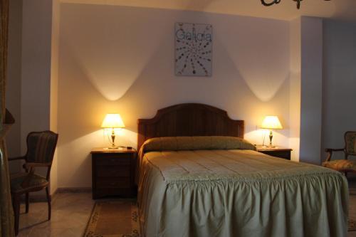 Cama o camas de una habitación en PR Ó Mesón Novo