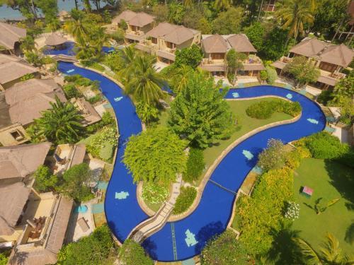 A bird's-eye view of Pool Villa Club Lombok