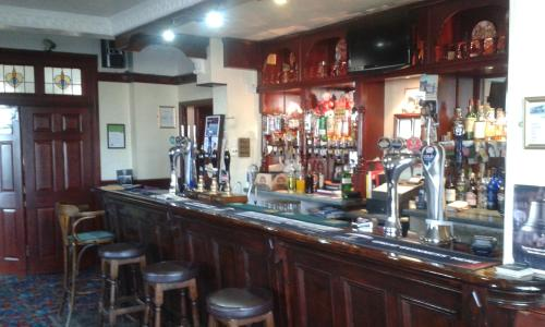 The lounge or bar area at Gilesgate Moor Hotel