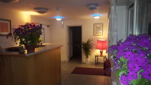 The lobby or reception area at Almond Tree Hotel