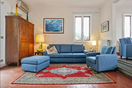 Area soggiorno di Fiesole - Firenze attico panoramico