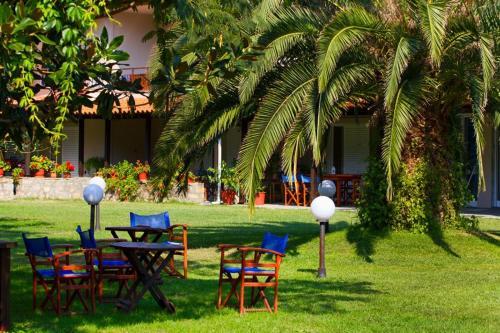 A garden outside Nefeli Studios
