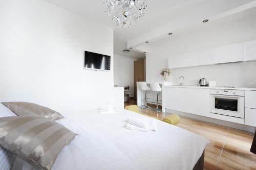 A kitchen or kitchenette at Primera Luxury Studio