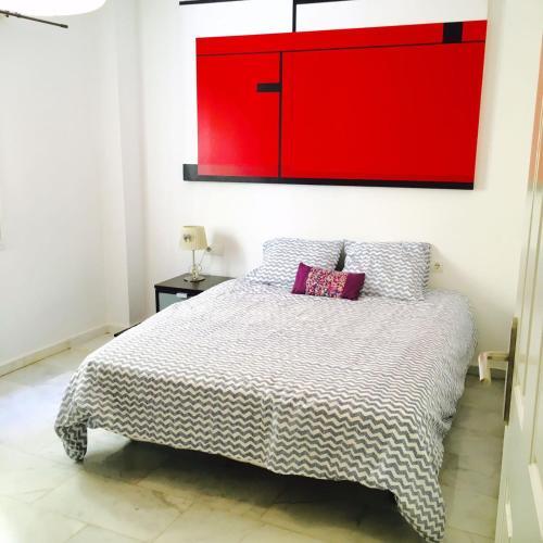 Cama o camas de una habitación en Nuño Gomez Apartment