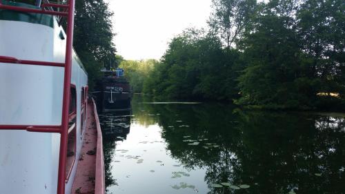 Natural landscape near the boat