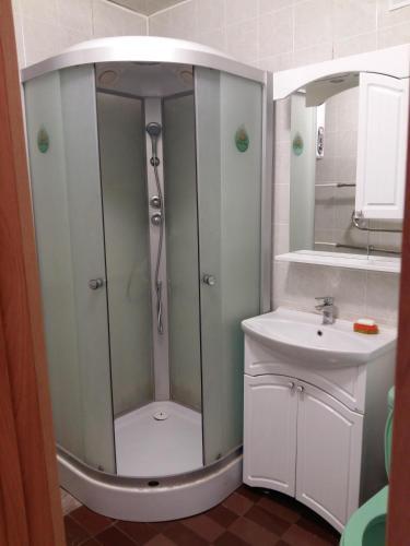 A bathroom at Аmto Mil'kovo
