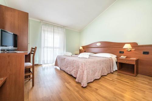 A room at Hotel Cristallo