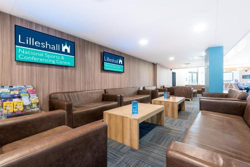 The lounge or bar area at Lilleshall National Sports & Conferencing Centre