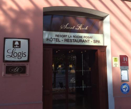The facade or entrance of Logis Hotel Saint-Roch