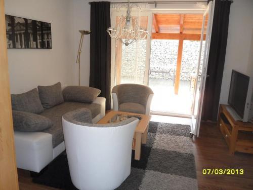 """Ein Sitzbereich in der Unterkunft Ferienhaus """"Harmonie"""""""