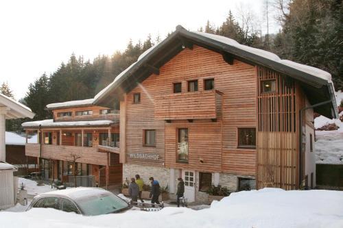 Wohlfühlappartements der Wildbachhof during the winter
