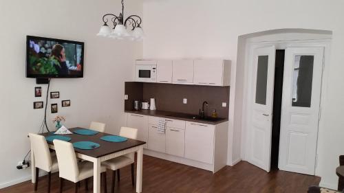 Kuchyň nebo kuchyňský kout v ubytování Lovely Prague Havanska
