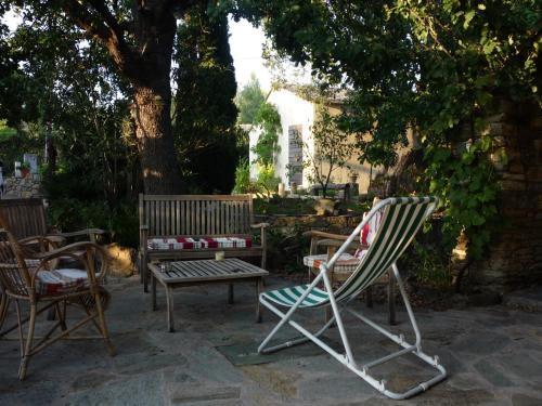 A porch or other outdoor area at A camera di a vigna