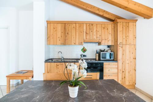 A kitchen or kitchenette at Casa Gabriella