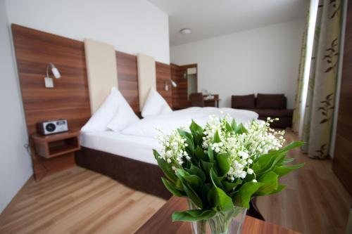 Cama o camas de una habitación en Hotel am Viktualienmarkt