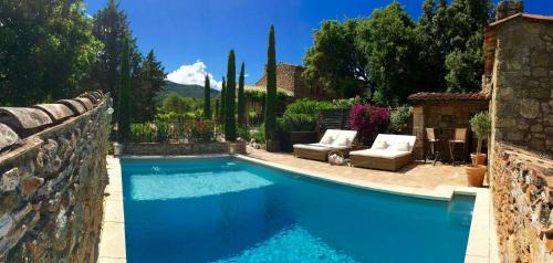 The swimming pool at or close to La Bastide