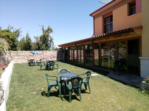 A porch or other outdoor area at Hornillos Meeting Point (Pilgrim Hostel)