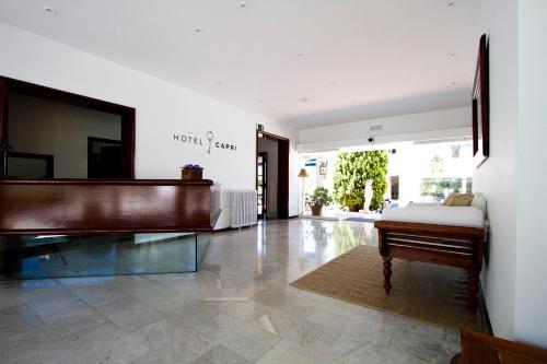The lobby or reception area at Hotel Capri