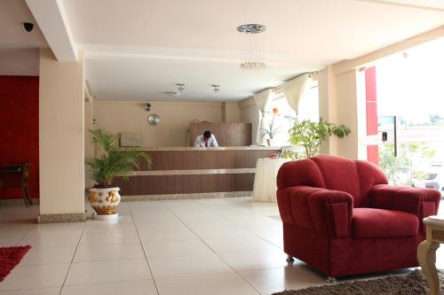 The lobby or reception area at Hotel Central