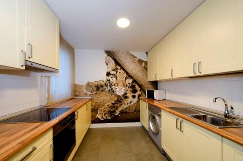 Una cocina o zona de cocina en El Aura