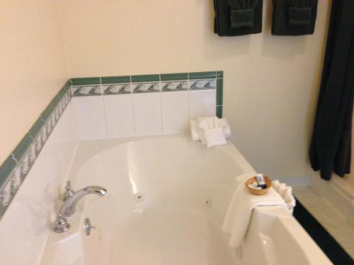A bathroom at The Falls Motel