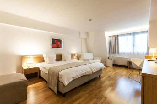 Cama o camas de una habitación en Hotel Simoncini