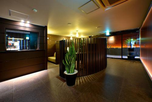 The lobby or reception area at AROMA+ (Adult Only)