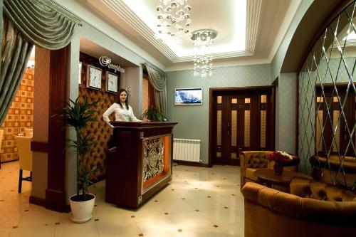 Zona de hol sau recepție la Villa Rossa Hotel