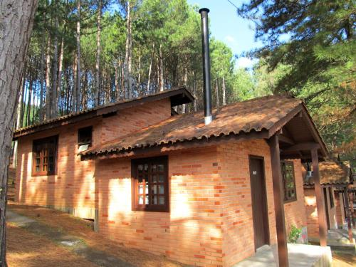 A fachada ou entrada em Parque da Cachoeira