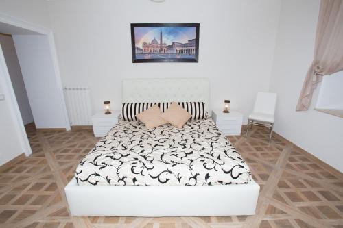 Un ou plusieurs lits dans un hébergement de l'établissement Residenza Gianicolo