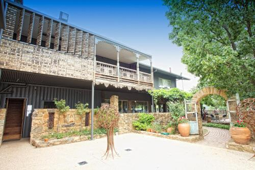 A porch or other outdoor area at Feathertop Winery