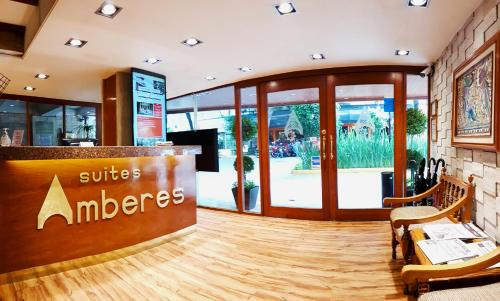 Лобби или стойка регистрации в Suites Amberes