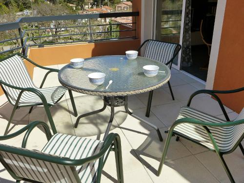A porch or other outdoor area at Apartment Cap Marine
