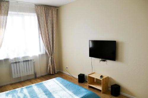 A seating area at Apartment Yevstafyeva