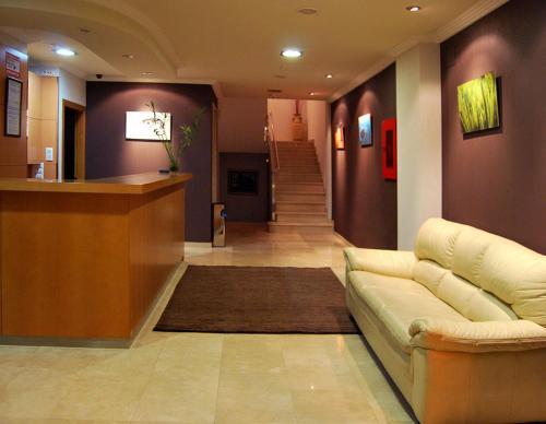 El vestíbulo o zona de recepción de Hotel Plaza