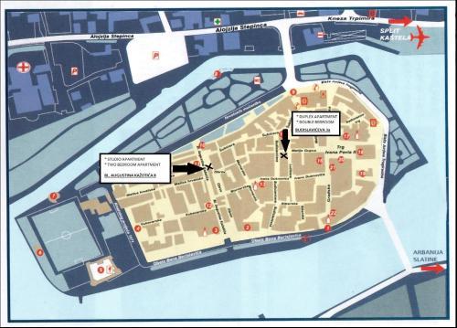 The floor plan of Apartments Kaja