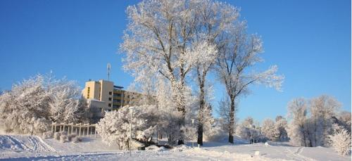 Hotel Talsi during the winter