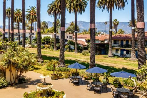 A garden outside Hotel Milo Santa Barbara