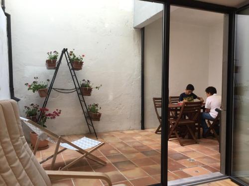 A porch or other outdoor area at Casa dos Pátios