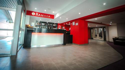 The lobby or reception area at Ramada London South Mimms