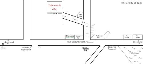 Planul etajului la Lharmonie Villa