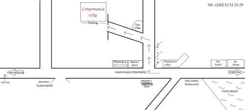 The floor plan of Lharmonie Villa