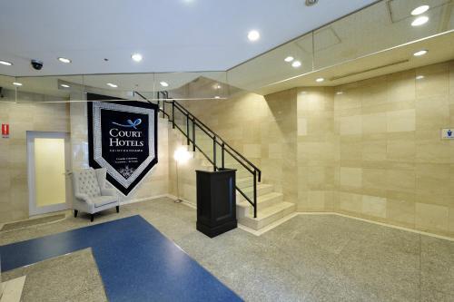 The lobby or reception area at Court Hotel Shin-Yokohama