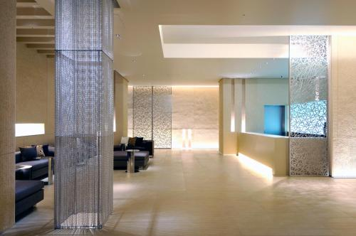 The lobby or reception area at HOTEL UNIZO Tokyo Shibuya