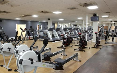 The fitness center and/or fitness facilities at Doubletree By Hilton Glasgow Strathclyde