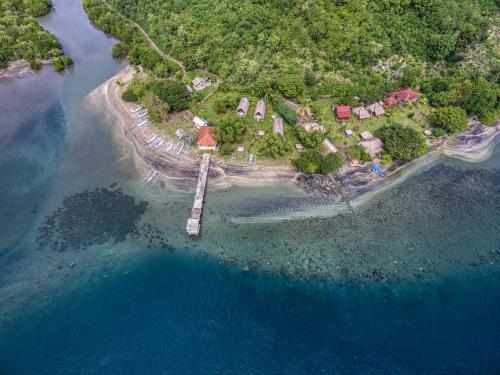 Een luchtfoto van Gipsy Beach Bungalows