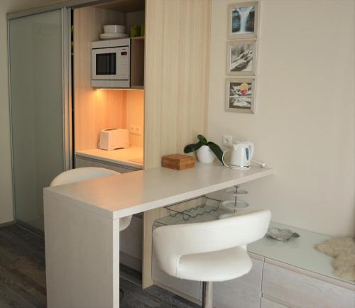 Köök või kööginurk majutusasutuses Aisa 39 Külaliskorter