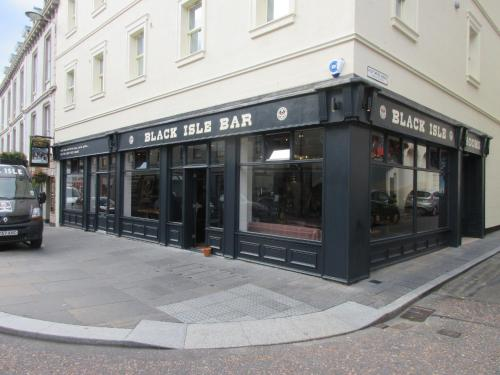 The facade or entrance of Black Isle Bar & Rooms